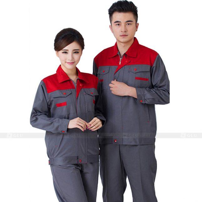 Quan ao dong phuc bao ho GLU X576 đồng phục công nhân xây dựng