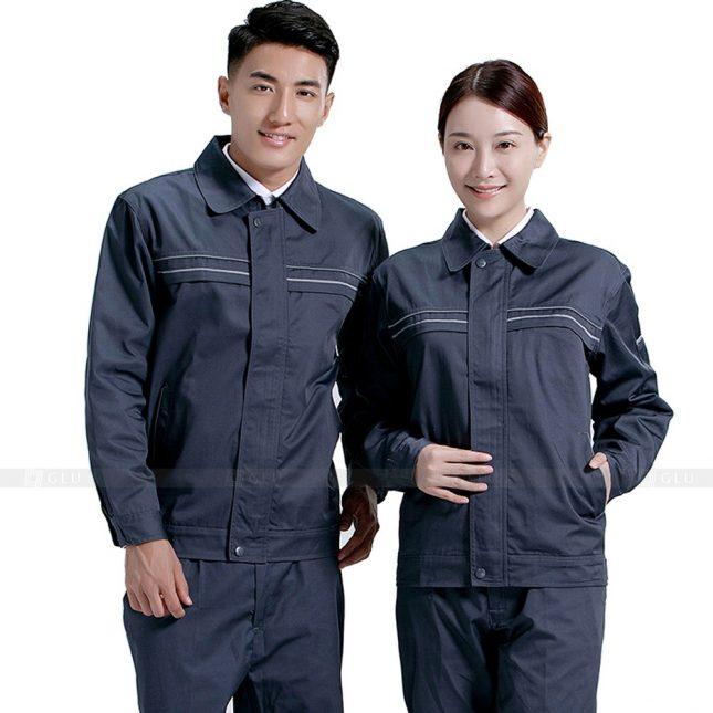 Quan ao dong phuc bao ho GLU X578 đồng phục công nhân xây dựng