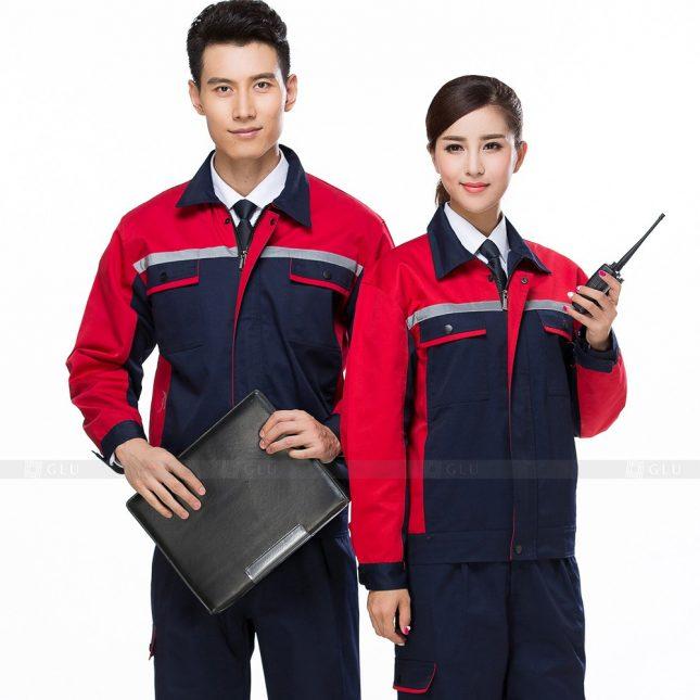 Quan ao dong phuc bao ho GLU X579 đồng phục công nhân xây dựng