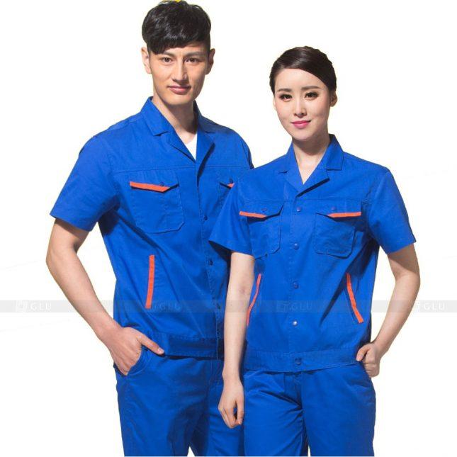 Quan ao dong phuc bao ho GLU X581 đồng phục công nhân xây dựng