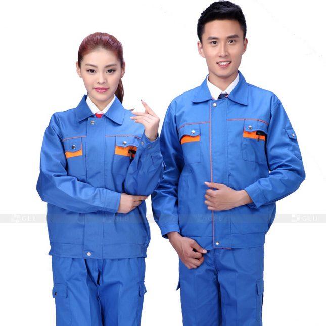 Quan ao dong phuc bao ho GLU X582 đồng phục công nhân xây dựng