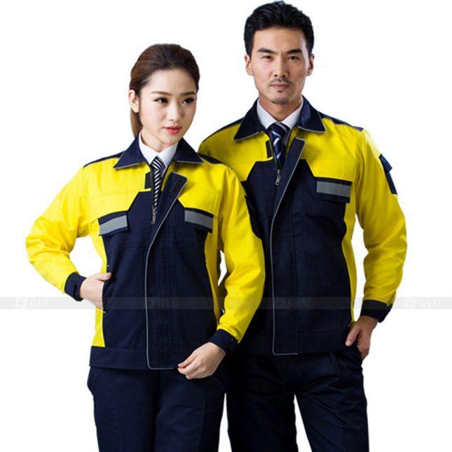 Quan ao dong phuc bao ho GLU X584 đồng phục công nhân xây dựng