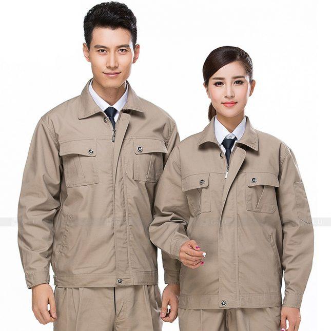 Quan ao dong phuc bao ho GLU X589 đồng phục công nhân xây dựng