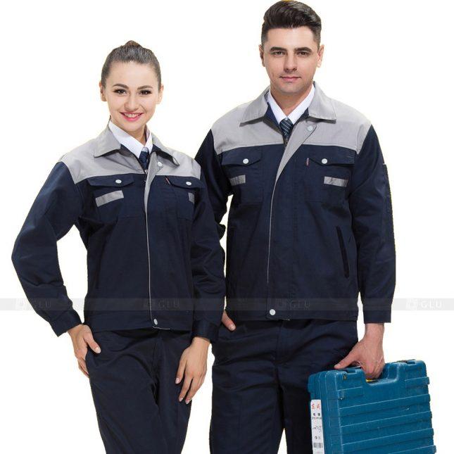 Quan ao dong phuc bao ho GLU X590 đồng phục công nhân xây dựng