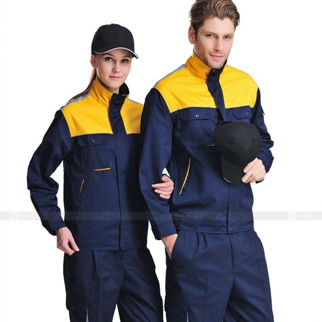 Quan ao dong phuc bao ho GLU X595 đồng phục công nhân xây dựng