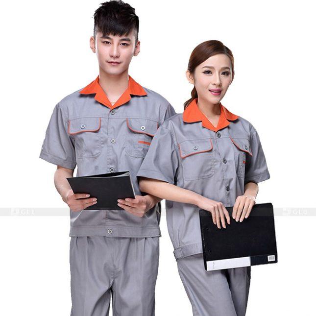 Quan ao dong phuc bao ho GLU X596 đồng phục công nhân xây dựng