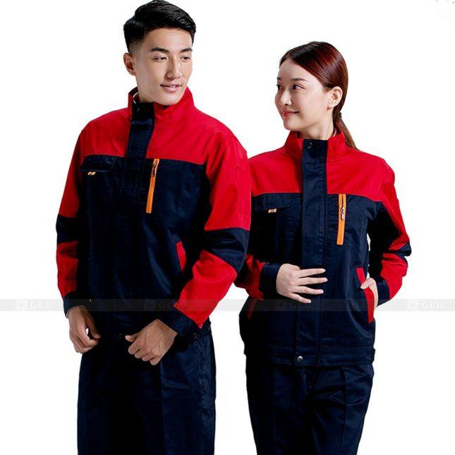 Quan ao dong phuc bao ho GLU X597 đồng phục công nhân xây dựng