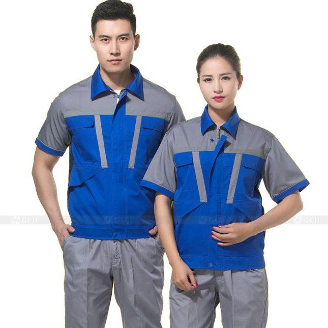Quan ao dong phuc bao ho GLU X599 đồng phục công nhân xây dựng