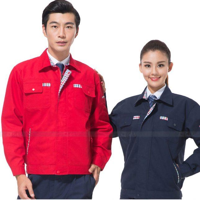 Quan ao dong phuc bao ho GLU X603 đồng phục công nhân xây dựng