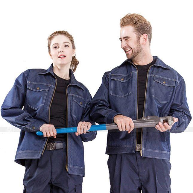 Quan ao dong phuc bao ho GLU X608 đồng phục công nhân xây dựng