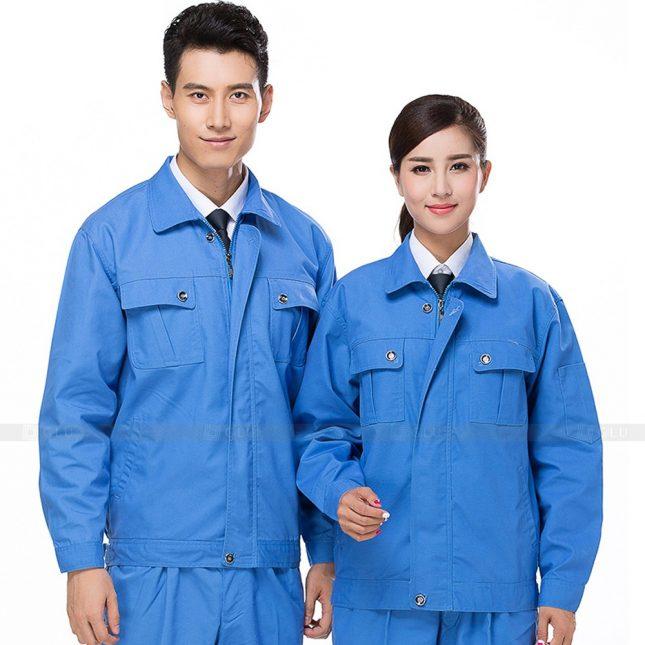 Quan ao dong phuc bao ho GLU X609 đồng phục công nhân xây dựng