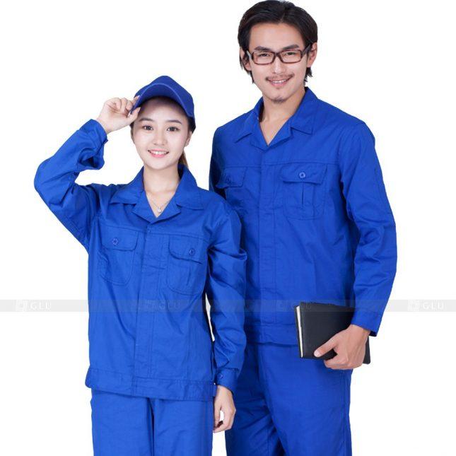 Quan ao dong phuc bao ho GLU X610 đồng phục công nhân xây dựng