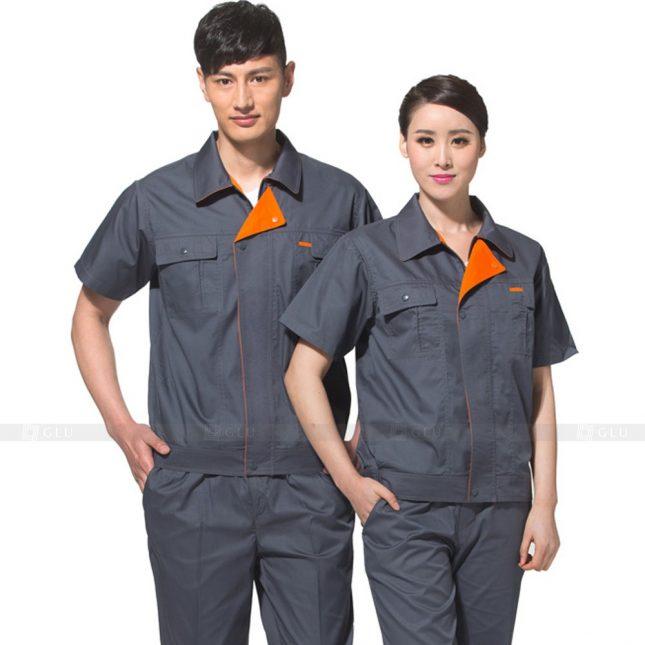 Quan ao dong phuc bao ho GLU X615 đồng phục công nhân xây dựng