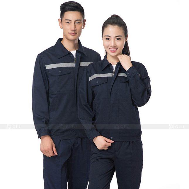 Quan ao dong phuc bao ho GLU X619 đồng phục công nhân xây dựng