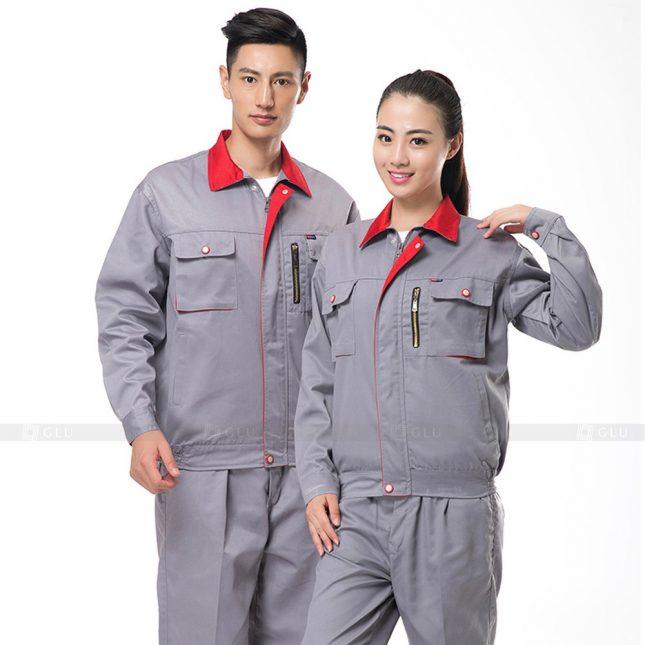 Quan ao dong phuc bao ho GLU X620 đồng phục công nhân xây dựng