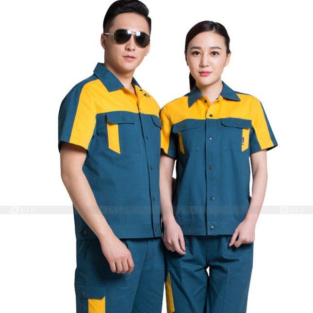 Quan ao dong phuc bao ho GLU X622 đồng phục công nhân xây dựng