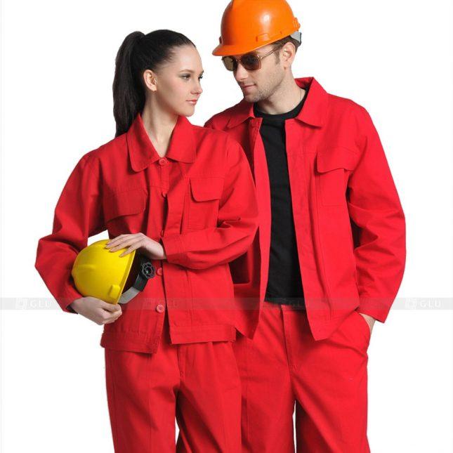 Quan ao dong phuc bao ho GLU X629 đồng phục công nhân xây dựng
