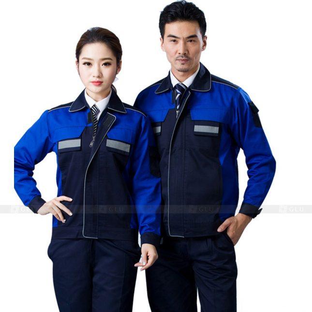 Quan ao dong phuc bao ho GLU X633 đồng phục công nhân xây dựng