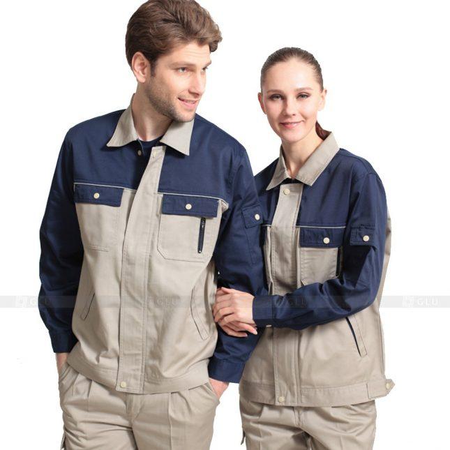 Quan ao dong phuc bao ho GLU X635 đồng phục công nhân xây dựng