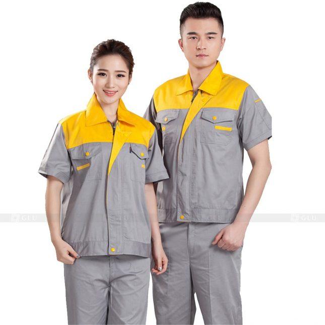 Quan ao dong phuc bao ho GLU X636 đồng phục công nhân xây dựng