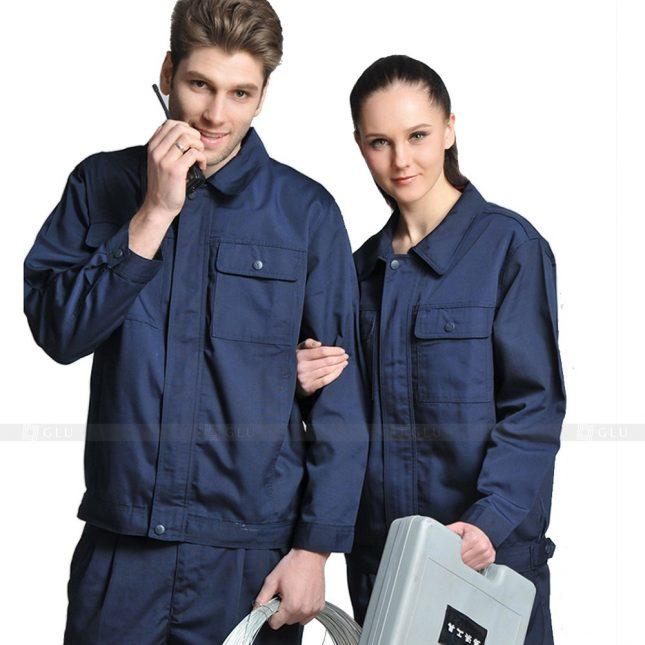 Quan ao dong phuc bao ho GLU X639 đồng phục công nhân xây dựng