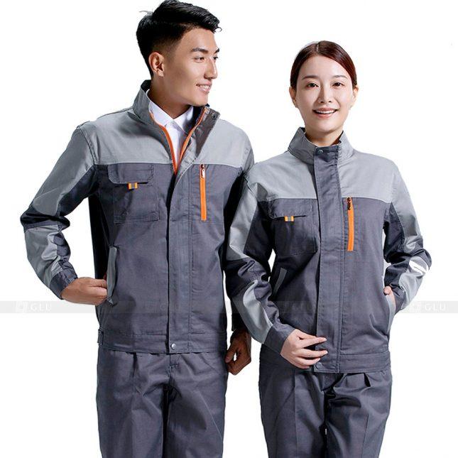 Quan ao dong phuc bao ho GLU X643 đồng phục công nhân xây dựng