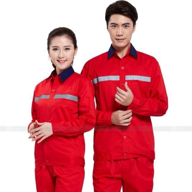 Quan ao dong phuc bao ho GLU X644 đồng phục công nhân xây dựng