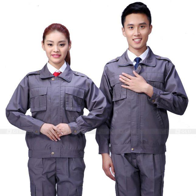 Quan ao dong phuc bao ho GLU X646 đồng phục công nhân xây dựng