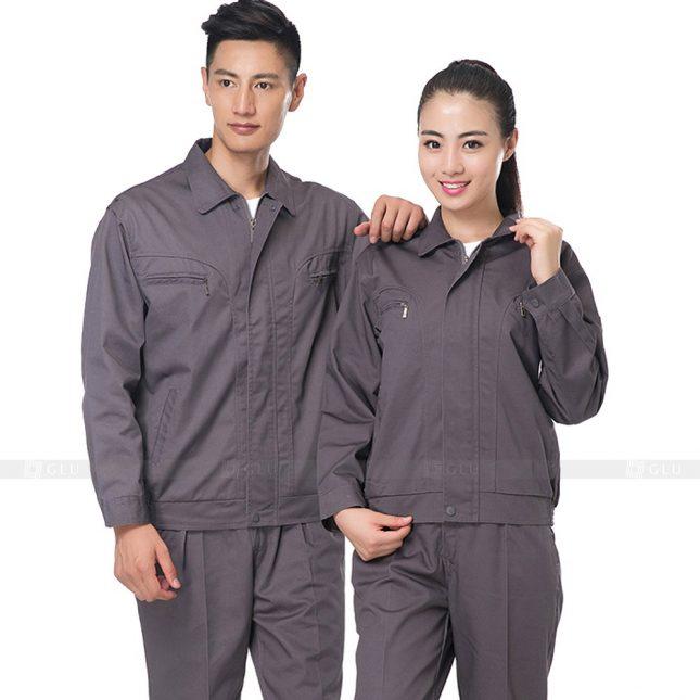 Quan ao dong phuc bao ho GLU X647 đồng phục công nhân xây dựng