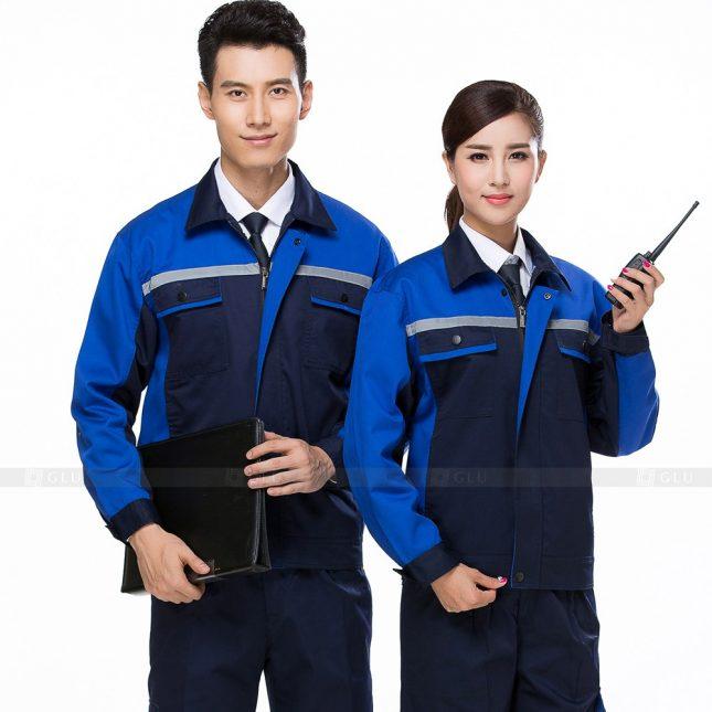 Quan ao dong phuc bao ho GLU X648 đồng phục công nhân xây dựng