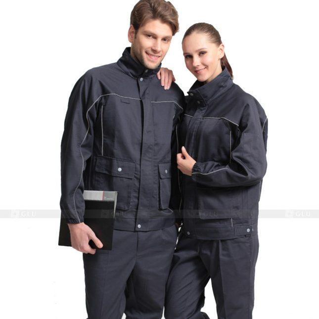 Quan ao dong phuc bao ho GLU X653 đồng phục công nhân xây dựng