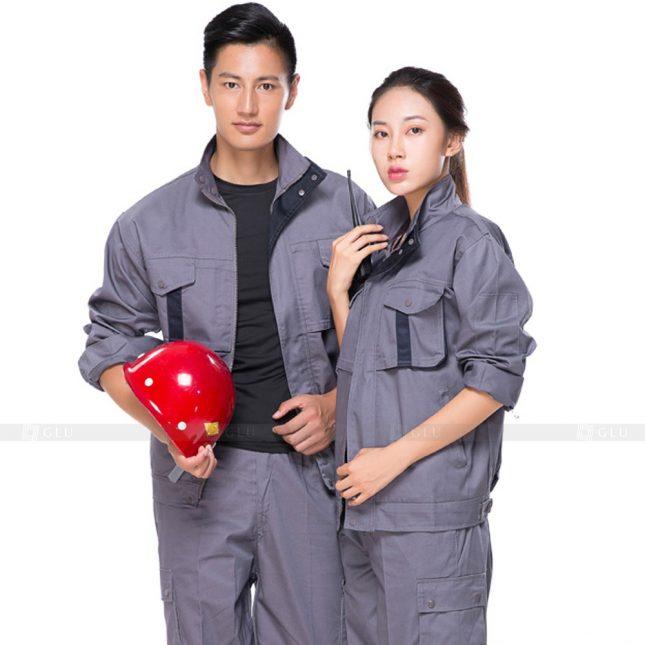Quan ao dong phuc bao ho GLU X656 đồng phục công nhân xây dựng