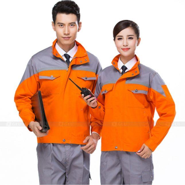 Quan ao dong phuc bao ho GLU X658 đồng phục công nhân xây dựng