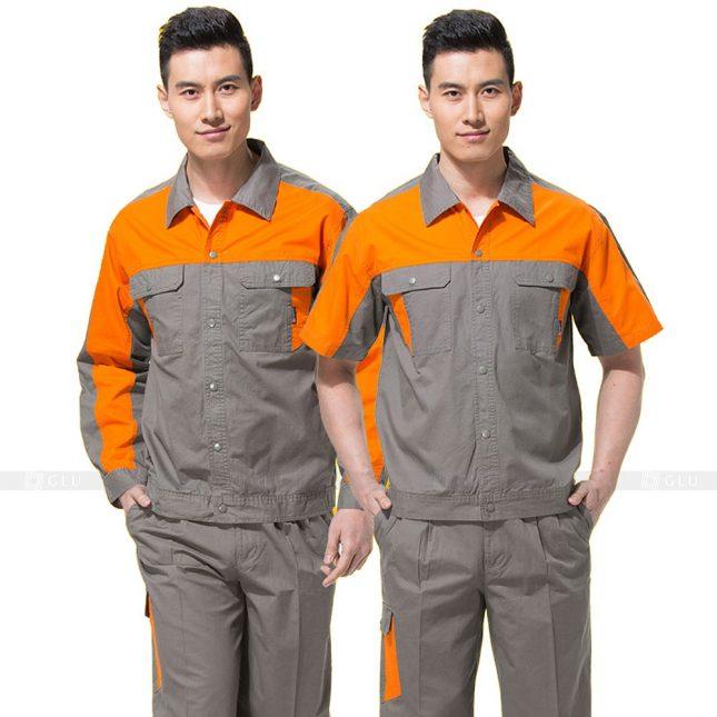Quan ao dong phuc bao ho GLU X659 đồng phục công nhân xây dựng