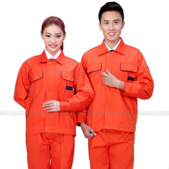 Quan ao dong phuc bao ho GLU X661 đồng phục công nhân xây dựng