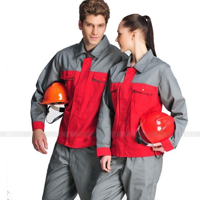 Quan ao dong phuc bao ho GLU X663 đồng phục công nhân xây dựng