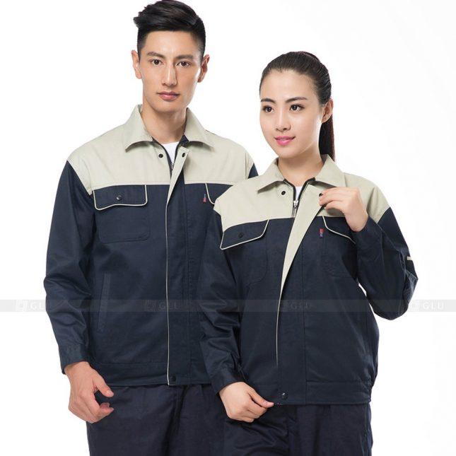 Quan ao dong phuc bao ho GLU X665 đồng phục công nhân xây dựng