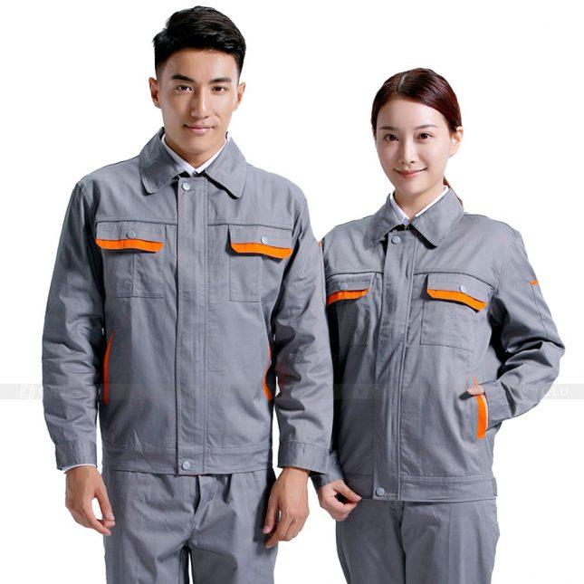 Quan ao dong phuc bao ho GLU X667 đồng phục công nhân xây dựng