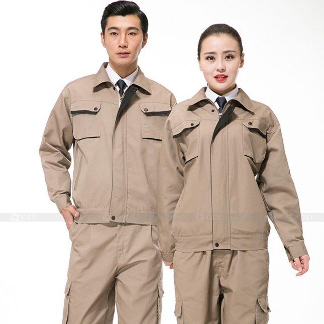 Quan ao dong phuc bao ho GLU X670 đồng phục công nhân xây dựng