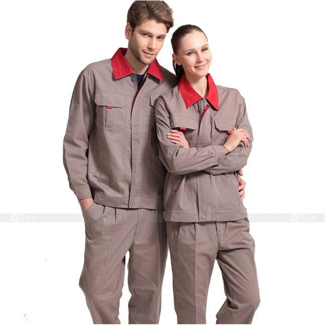 Quan ao dong phuc bao ho GLU X673 đồng phục công nhân xây dựng