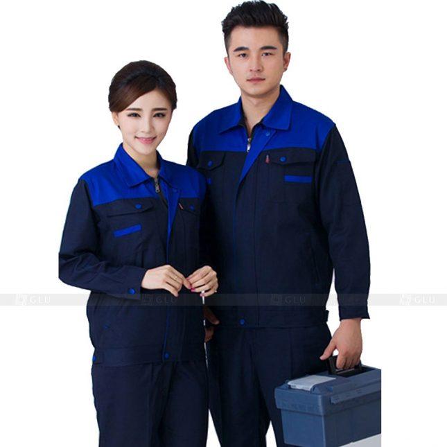 Quan ao dong phuc bao ho GLU X675 đồng phục công nhân xây dựng