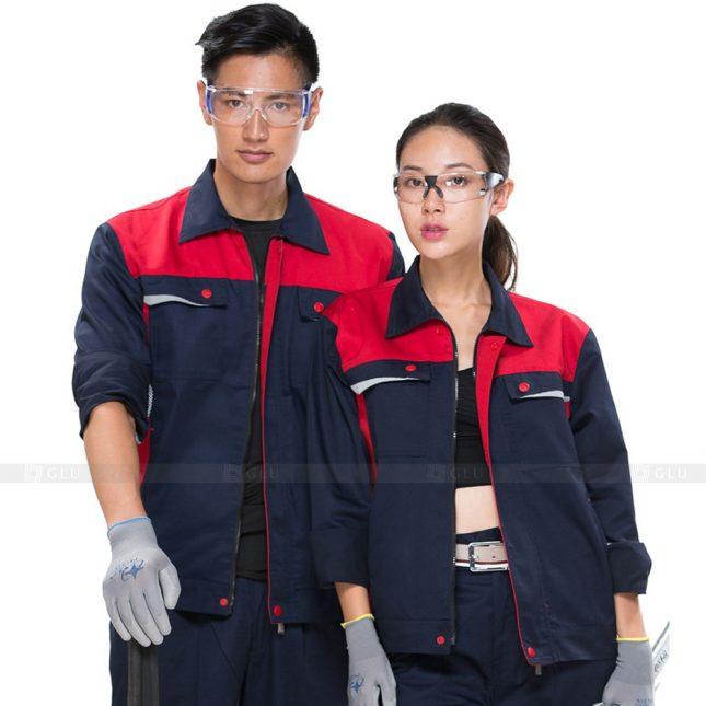 Quan ao dong phuc bao ho GLU X676 đồng phục công nhân xây dựng