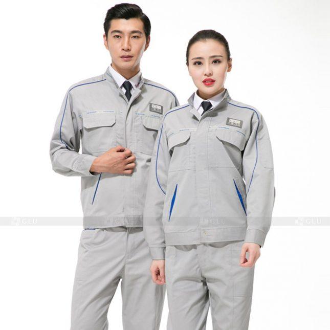 Quan ao dong phuc bao ho GLU X678 đồng phục công nhân xây dựng