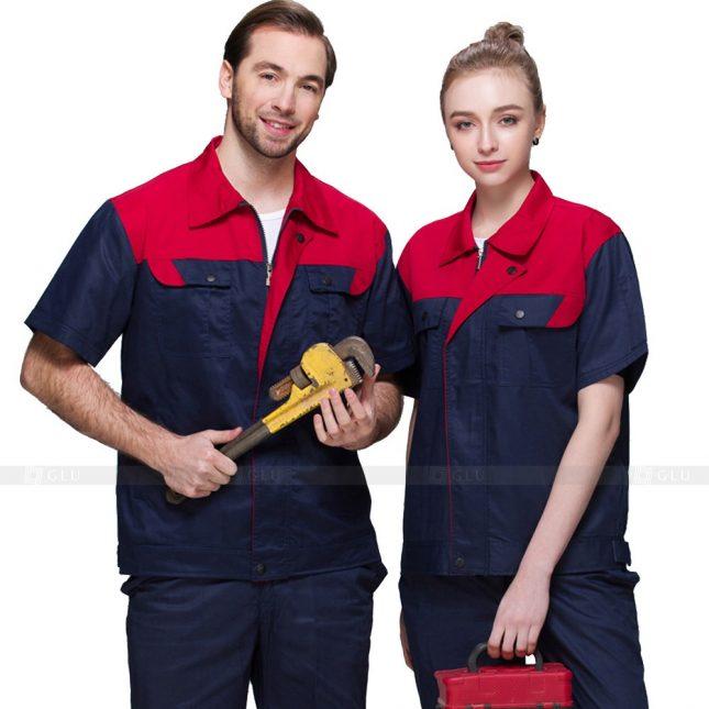 Quan ao dong phuc bao ho GLU X683 đồng phục công nhân xây dựng