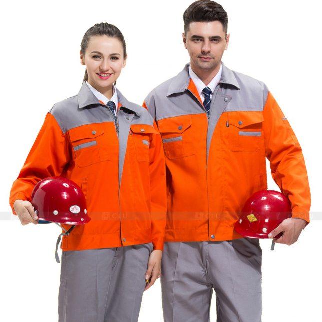 Quan ao dong phuc bao ho GLU X685 đồng phục công nhân xây dựng
