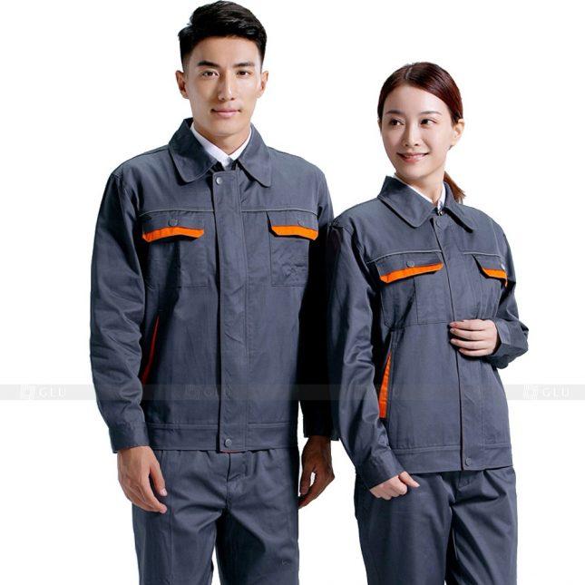 Quan ao dong phuc bao ho GLU X695 đồng phục công nhân xây dựng