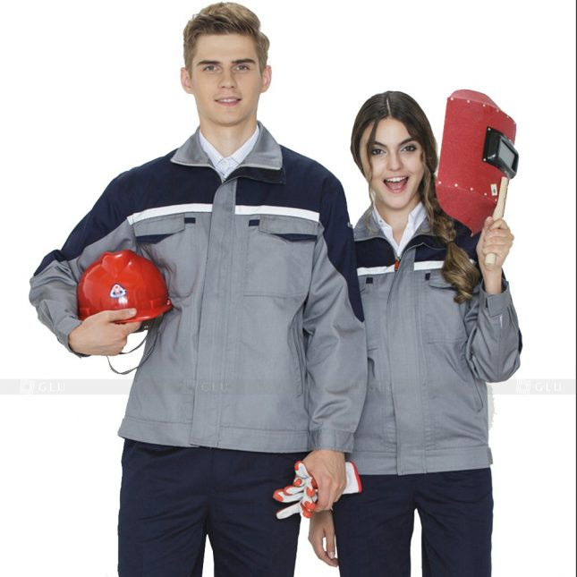 Quan ao dong phuc bao ho GLU X697 đồng phục công nhân xây dựng