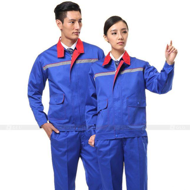 Quan ao dong phuc bao ho GLU X699 đồng phục công nhân xây dựng