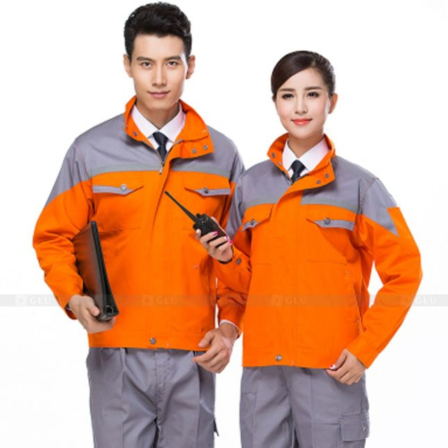 Quan ao dong phuc bao ho GLU X751 đồng phục công nhân xây dựng