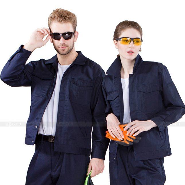 Quan ao dong phuc bao ho GLU X754 đồng phục công nhân xây dựng